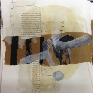 Ellen Ribbe, Skizzenbuch, Malerei, Collage, Zeichnung, work in progress