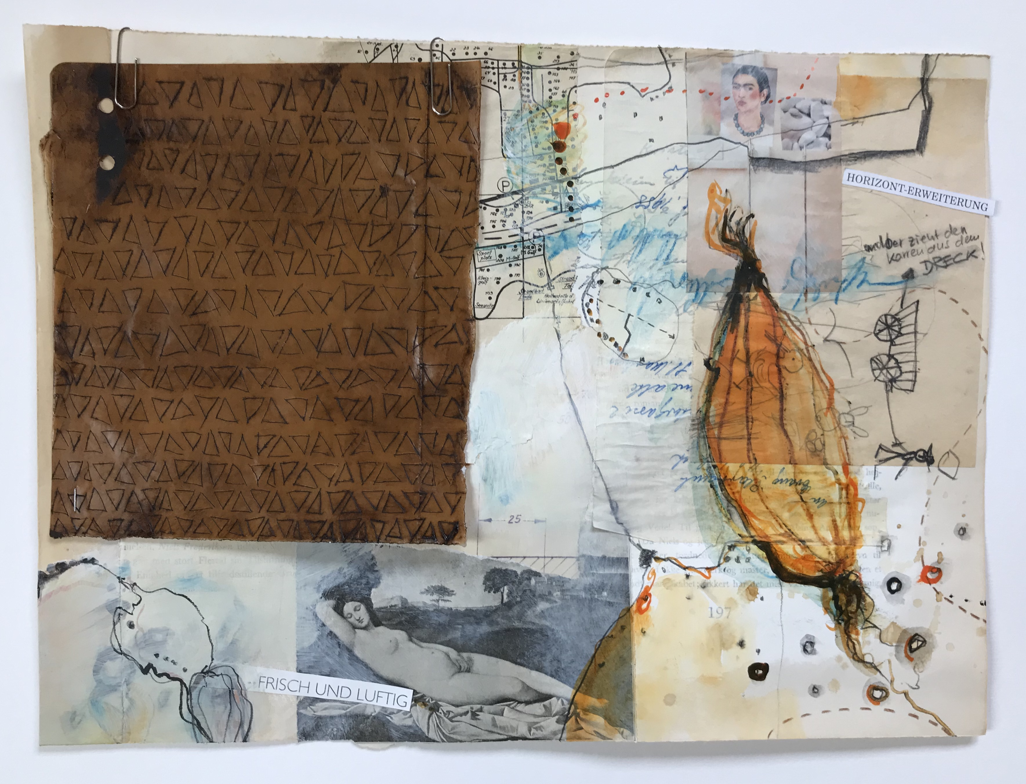 Kalender, Collage, Mixed Media